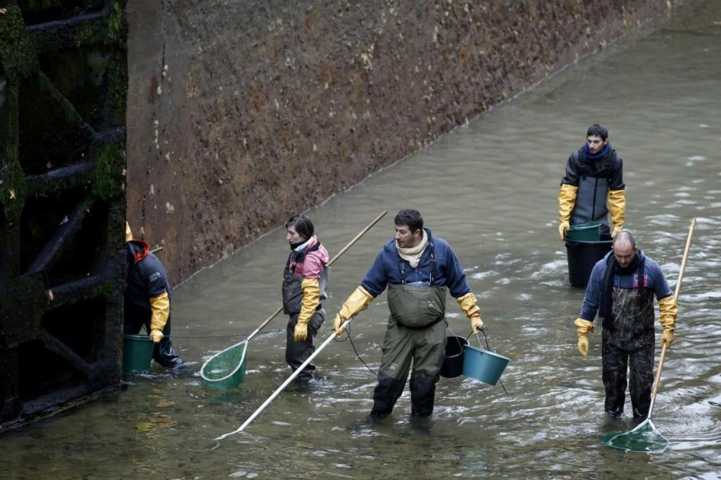 Как очищали канал Сан-Мартен (Сanal Saint-Martin) в Париже