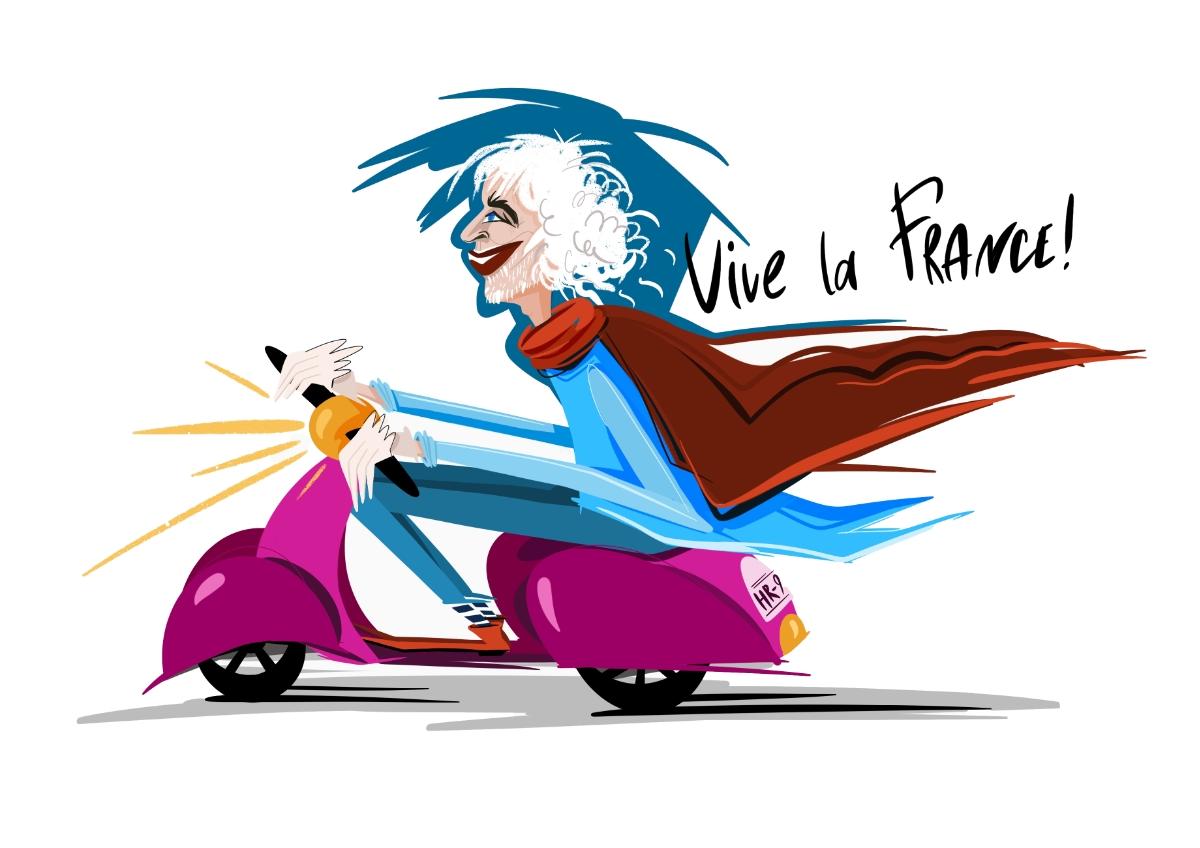 Пьер Ришар в иллюстрациях